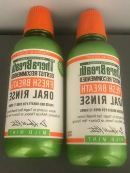 2 Pack TheraBreath 24 Hour DENTIST Recommended Oral Rinse 16