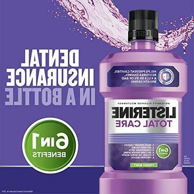 Listerine Total Care Anticavity Fluoride Mouthwash 6 Benefit