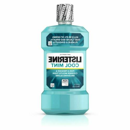 Listerine Antiseptic Cool Mint, 99.9% Germs Kill 250