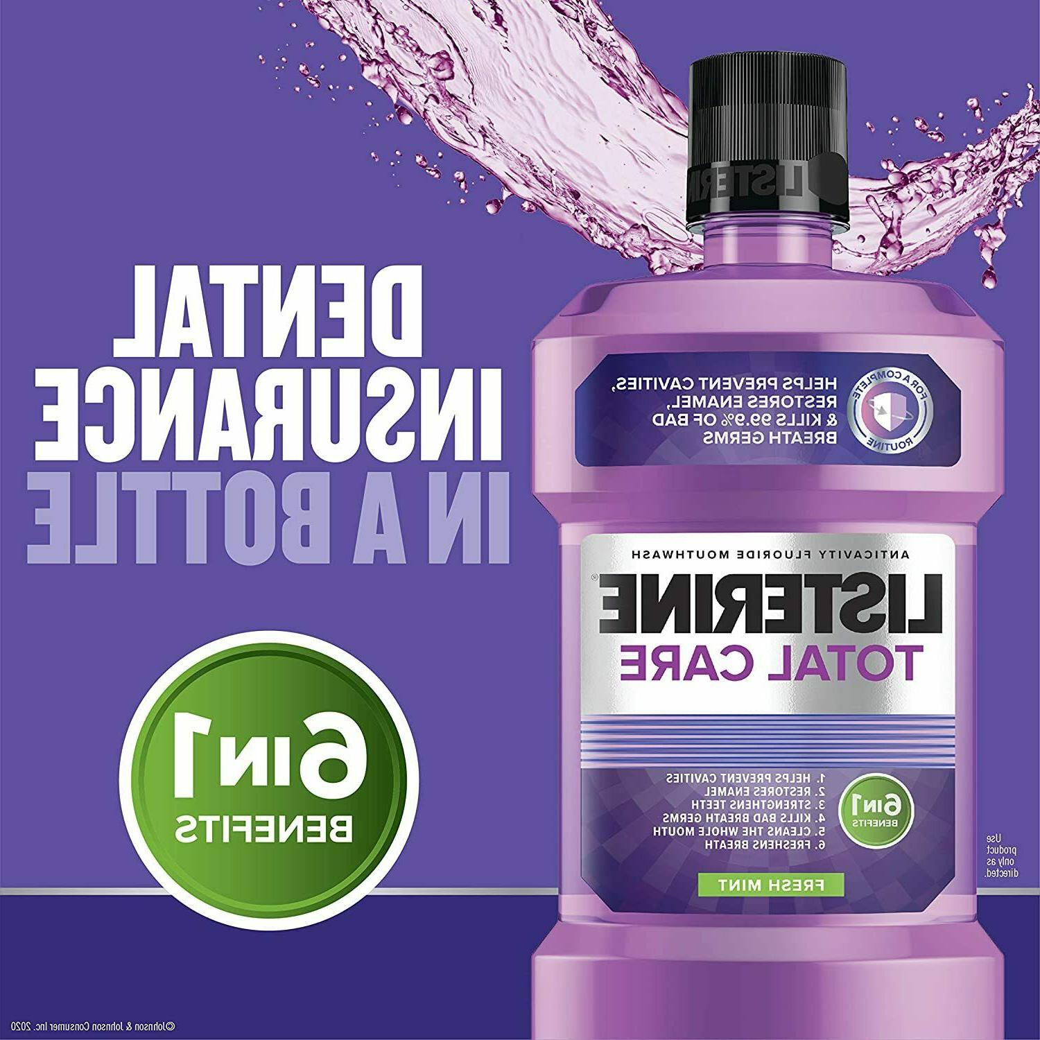 total care anticavity fluoride 6 benefit mouthwash