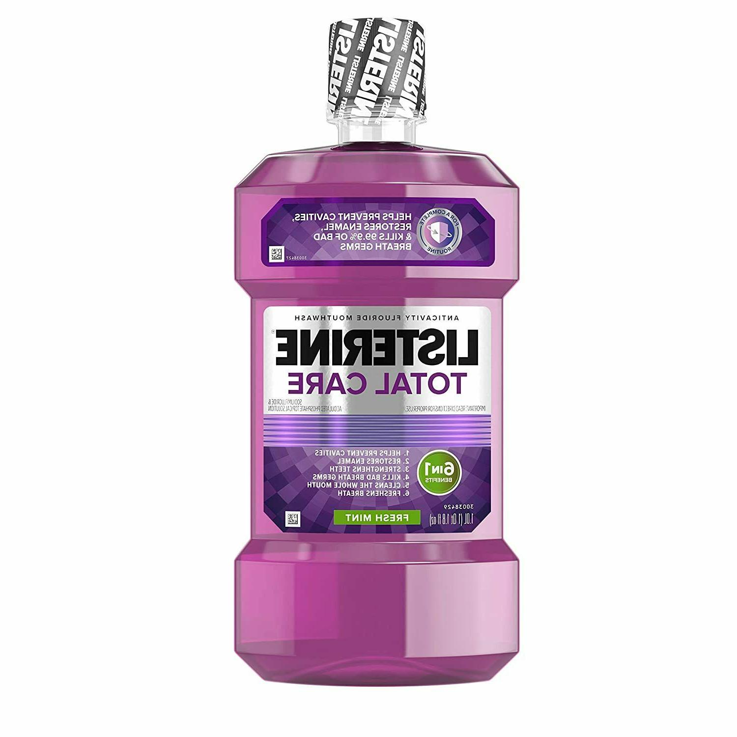 listerine total care anticavity fluoride mouthwash 6